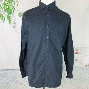 UNIQLO Mens LS Button Front Polka Dot Shirt XL